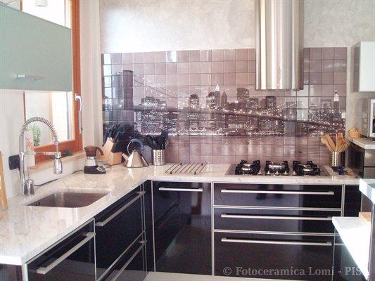 Mosaico in fotoceramica - Mosaico per cucina ...